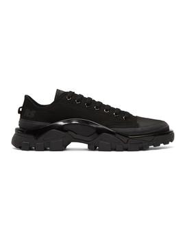 Black Adidas Originals Edition Detroit Runner Sneakers by Raf Simons
