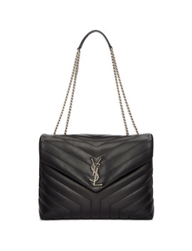 Black Medium Monogram Loulou Chain Bag by Saint Laurent
