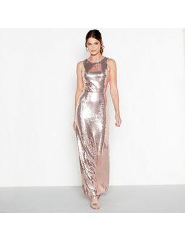 Debut   Light Pink Sequin 'clara' Maxi Dress by Debut