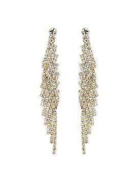 Mood   Diamante Twist Drop Earrings by Mood