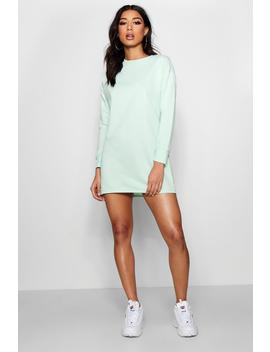 Zendaya Edit Round Neck Oversized Sweat Dress by Boohoo