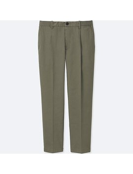 Men Relaxed Ankle Length Pants (Pleated) by Uniqlo