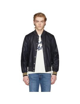 Ssense Exclusive Black Teddy Bomber Jacket by Maison KitsunÉ