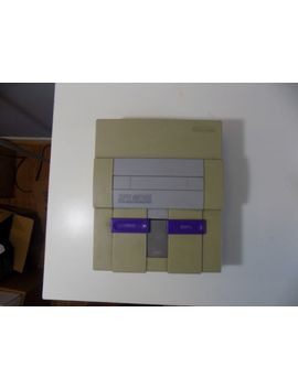 Super Nintendo Console Only!!(Snes) Tested And Works!! Original Nintendo! by Nintendo