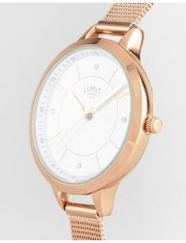 Limit Sunray Mesh Watch In Rose Gold Exclusive To Asos by Limit