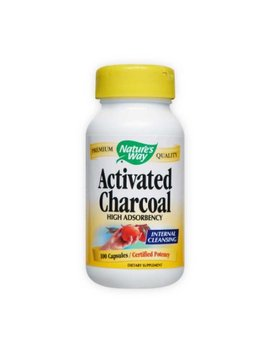 Nature's Way Charcoal Activated Capsules, 280 Mg 100 Ea by Nature's Way