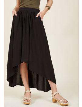 Lead In Lengths Midi Skirt In Black Lead In Lengths Midi Skirt In Black by Modcloth