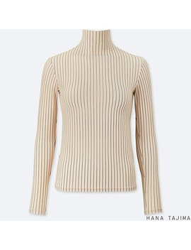 Women Hana Tajima Ai Rism High Neck Long Sleeve T Shirt by Uniqlo