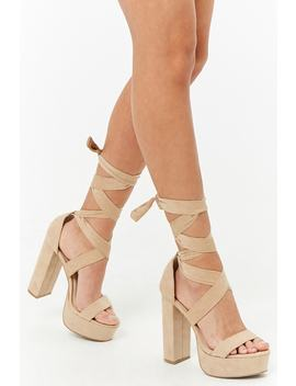 Ankle Wrap Platform Sandals by Forever 21
