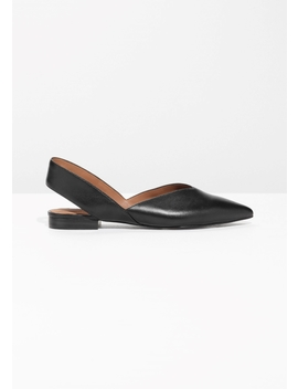 Slingback Leather Flat by & Other Stories