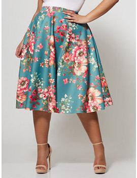 Ftf Signature   Print Sofie Circle Midi Skirt by New York & Company