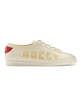 White Sega 'guccy' Falacer Bowling Sneakers by Gucci