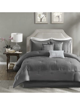 Madison Park Curtis Pleated 7 Pc. Comforter Set by Madison Park