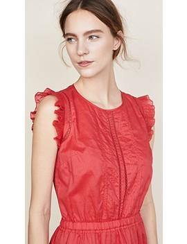 Sleeveless Dress With Pleated Ruffle by Scotch &Amp; Soda/Maison Scotch
