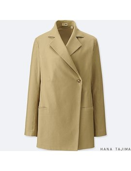 Women Hana Tajima Tencel Long Jacket by Uniqlo