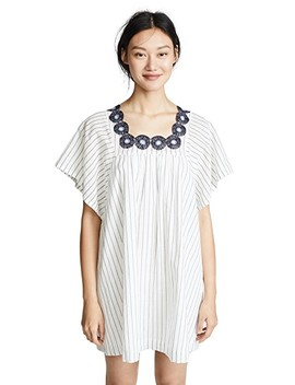 Striped Dress With Embroidered Medallions by Madewell