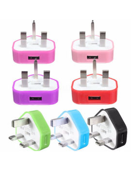Uk Usb Plug Charger Mains Adapter For I Phone Phone Tablets Triangle by Unbranded