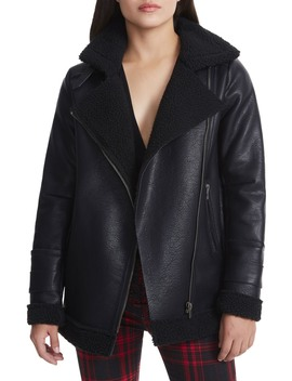 Opelia Oversize Faux Shearling Jacket by Afrm