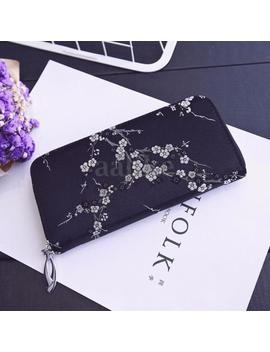 Women Lady Pu Leather Long Wallet Flower Card Cash Holder Purse Clutch Handbag by Unbranded/Generic