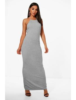 Bella 90s Neck Bodycon Maxi Dress by Boohoo