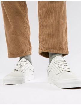 Vans Leather Old Skool Sneakers In White Va38 G1 Rz5 by Vans