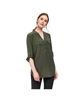 Wallis   Khaki Longline Shirt by Wallis