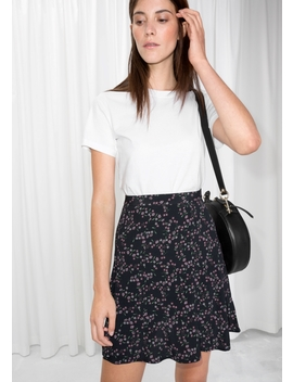 Floral Print Mini Skirt by & Other Stories