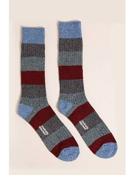 Men Unsimply Stitched Marled Crew Socks by Forever 21