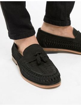 River Island Leather Loafers With Tassels In Black by River Island