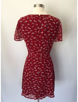New Madewell Jcrew Wrap Front Mini Dress In Seattle Floral Red Sz 2 G8410 $148 by Ebay Seller
