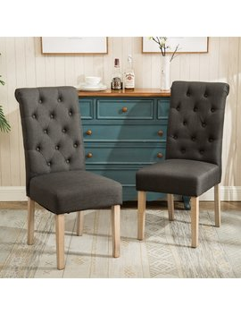 Copper Grove Slader Solid Wood Tufted Parsons Dining Chairs (Set Of 2) by Copper Grove