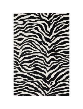 Aaron Zebra Print Microfiber Woven Rug (3'6 X 5'6) by Alexander Home