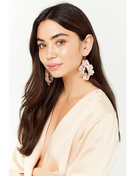 Rhinestone Floral Drop Earrings by Forever 21