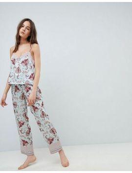 New Look Satin Print Pajama Set by Asos Brand