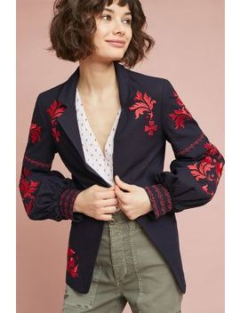 Madalyn Embroidered Blazer by Child Of The Universe Nyc