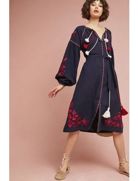 Madalyn Embroidered Shift Dress by Child Of The Universe Nyc