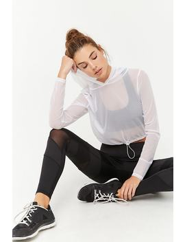 Active Sheer Mesh Hooded Top by F21 Contemporary