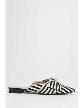 Striped Bow Mules by F21 Contemporary