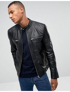Barney's Originals Real Leather Four Pocket Jacket by Jacket