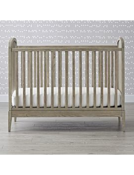 Wrightwood Grey Stain Crib by Crate&Barrel