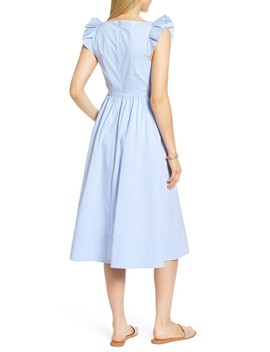 Ruffle Fit & Flare Midi Dress by 1901