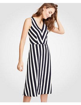 Tall Nautical Stripe Flare Dress by Ann Taylor