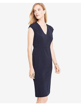 Tall Seasonless Stretch Cap Sleeve Sheath Dress by Ann Taylor