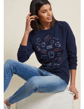 Sine Of The Times Graphic Pullover Sine Of The Times Graphic Pullover by Modcloth