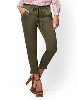 Olive Soft Ankle Pant by New York & Company