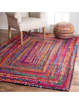 The Curated Nomad Grove Handmade Braided Cotton Rug (5' X 8') by The Curated Nomad