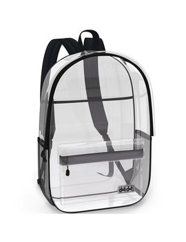 Super Heavy Duty Clear Backpack For School, Travel, Sports Or Any Outdoor Activity by Dot&Dot