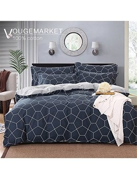 Vougemarket 3 Piece Duvet Cover Set King With 2 Pillow Shams   Hotel Quality 100 Percents Cotton Stripe Bedding Set  Luxurious, Comfortable, Breathable, Soft And Extremely Durable (King, Style 5) by Vougemarket