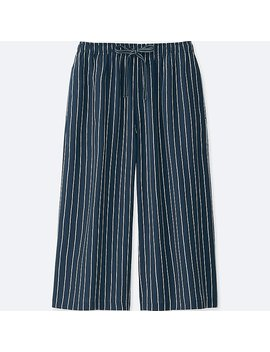 Women Relaco 3/4 Stripe Shorts by Uniqlo