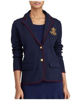 Custom Fit Two Button Fleece Blazer by Polo Ralph Lauren